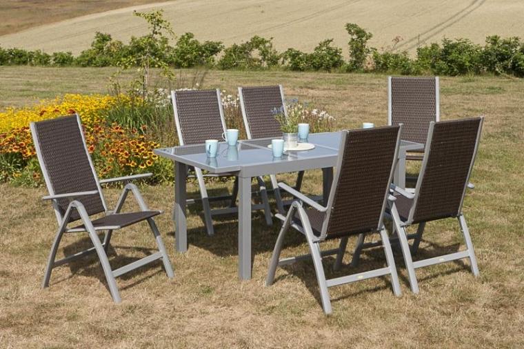Luxus Gartenmöbel Set 7 Teilig
