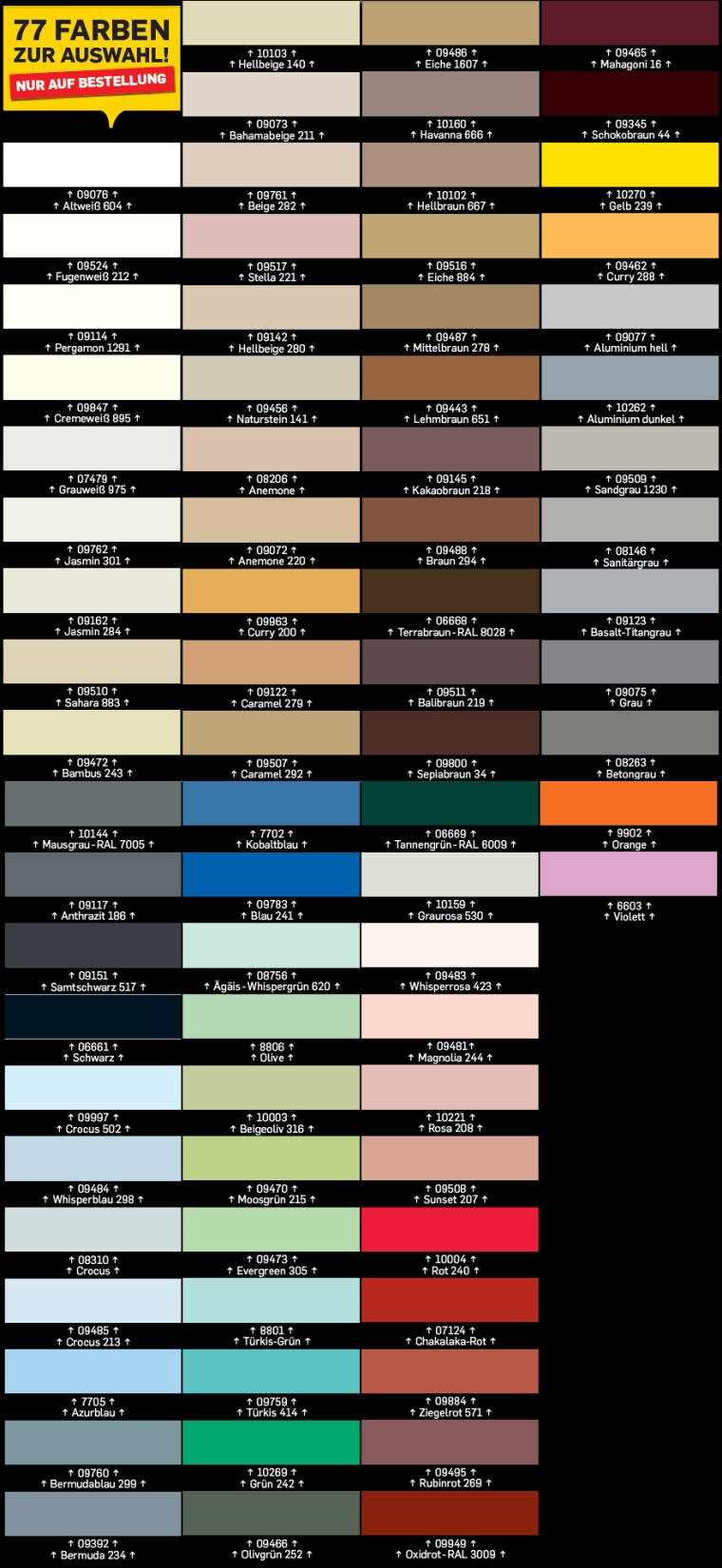 pattex farbige fuge 300ml in 77 modernen farben! fugendichtungsmasse