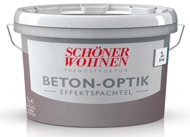 sch ner wohnen stein struktur beton optik grundspachtel grau 5 kg online. Black Bedroom Furniture Sets. Home Design Ideas