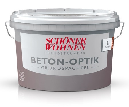 sch ner wohnen stein struktur beton optik effektspachtel grau 1 kg online. Black Bedroom Furniture Sets. Home Design Ideas