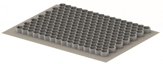ACO Kiesmatte Kiesgitter Bodenwabe eco S, grau 80x60 cm, 76,7 x 55,4 cm, Bauhöhe 3 cm