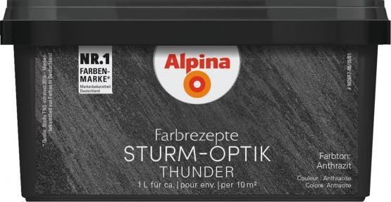 Alpina Farbrezepte METALL-EFFEKT STURM-OPTIK Anthrazit 1L