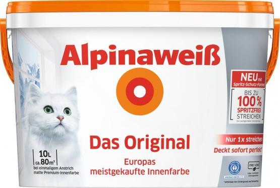 Alpina Innenfarbe Wandfarbe Alpinaweiß Das Original matt 12 L