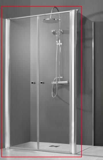 Breuer Dusche QUICK 72 Elana 6 NUR Pendeltür OHNE Seitenwand 900 mm Anschlag links + rechts