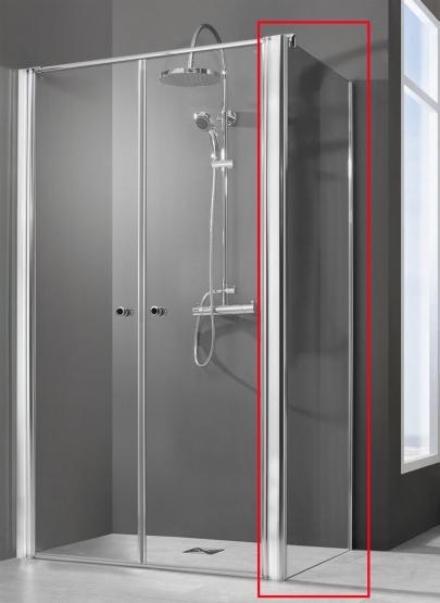 Breuer Dusche QUICK 72 Elana 6 NUR Seitenwand OHNE Pendeltür 900 mm Anschlag links + rechts