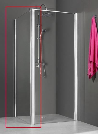 Breuer Dusche QUICK 72 Elena 6 NUR Seitenwand OHNE Drehtür 900 mm