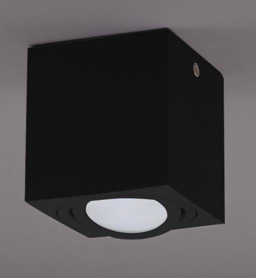 Briloner TUBE LED Aufbauleuchte - GU10Metall schwarz80x80x105 mm