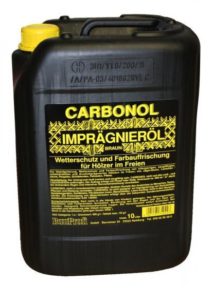 Carbonol Holzschutz Imprägnieröl braun 10 L für Hölzer im Freien