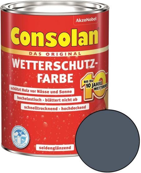 Consolan Wetterschutz-Farbe Schiefer 2,5 L
