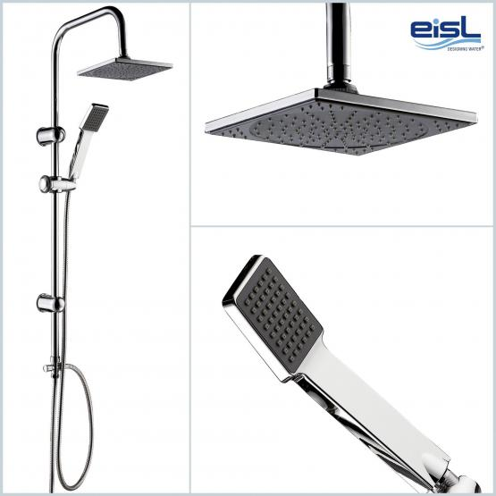 EISL Duschsäule Duschgarnitur Easy Energy Edelstahl hochglanzverchromt mit integriertem Umsteller