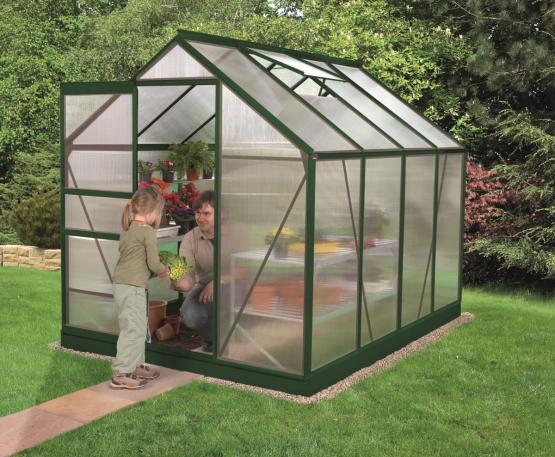 EPH Vitavia Gewächshaus Venus 5000 5,0 m² HKP 6 mm Smaragd pulverbeschichtet