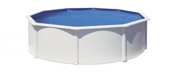 Gre Bora Bora Pool-Set Stahlwandbecken rund Schwimmbecken inkl. Kartuschenfilter + Zubehör (HxD) 120 x Ø 350 cm