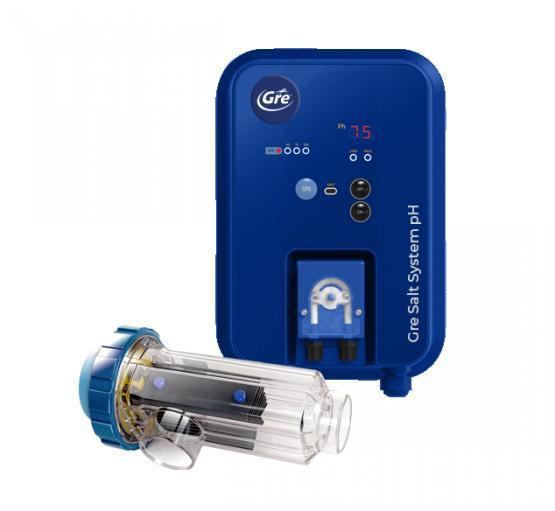 Gre Elektrolyse für Einbaubecken + CPH14 + Dosierpumpe - für Pools bis zu 100m³