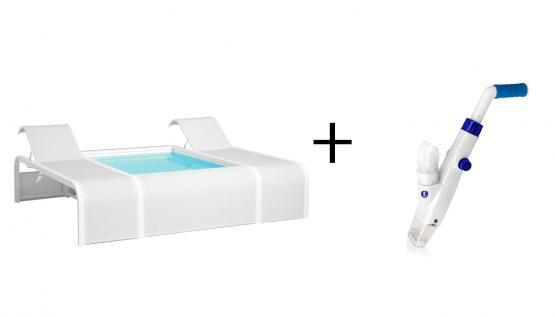 Gre Pool Mariposa Butterfly Schwimmbecken 282x219x60cm Aktion + Elektrischer Poolsauger CSPA für Pools und Whirlpools