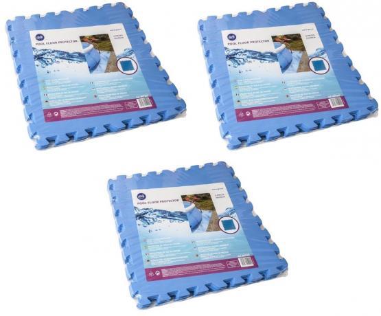 Gre Schutzmatte für Schwimmbeckenböden 6,75 m² (27 Stück á 50 x 50 cm) blau Unterlegmatte