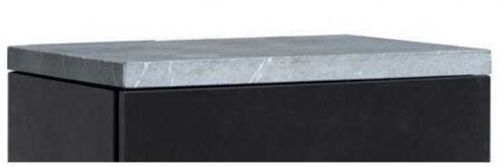 HAAS+SOHN Topplatte GASTEIN 350.15 Serpentino Rauchrohr-Anschluss hinten