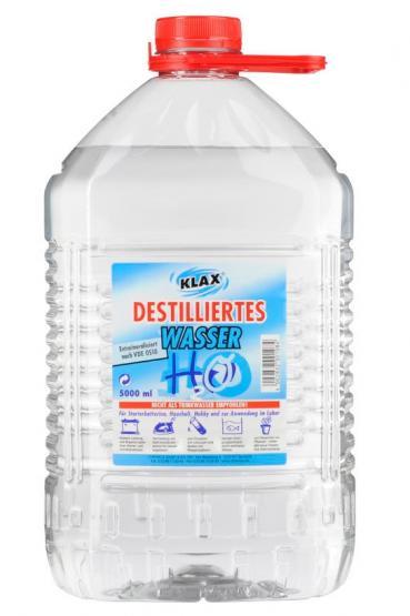 KLAX Destiliertes Wasser 5 Liter Kanister