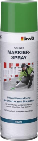 KWB Markier-Spray für Baustellen Grün 500 ml