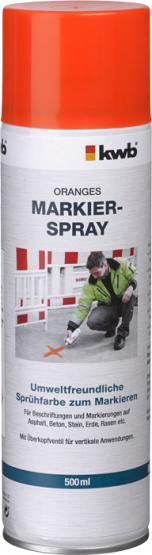 KWB Markier-Spray für Baustellen Orange 500 ml