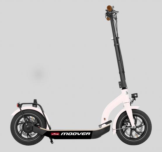 Metz Moover Creme Weiss KickScooter Reichweite ca. 25 km, max. 20 km/h mit ABE