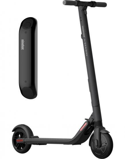 Ninebot by Segway KickScooter ES2 Reichweite ca. 25 km, max. 25 km/h schwarz + Ersatzakku EXTERN