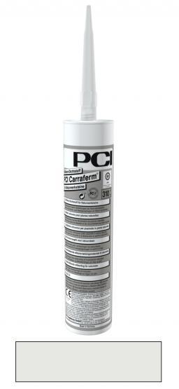 PCI Carraferm Silikon-Dichtstoff für Naturwerksteine Silicon Kartusche Fugendichtmasse perlgrau 310 ml