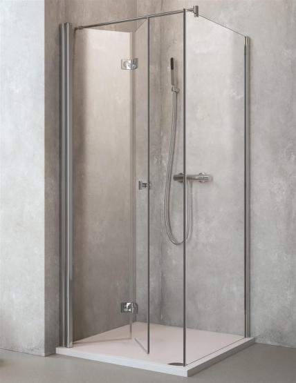 Profi Line Duschkabine Eckeinstieg Faltwand (L) mit Seitenteil 1000x900mm