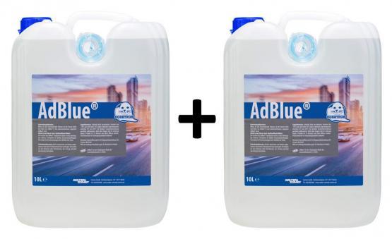 Robbyrob AdBlue® 20 L mit Einfüllschlauch Kraftstoffzusatz Additiv für Diesel SCR-Systeme 2x 10 L