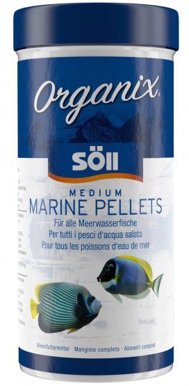Söll Organix Medium Marine Pellets 490 ml Alleinfuttermittel für alle Meerwasserfische Zierfische
