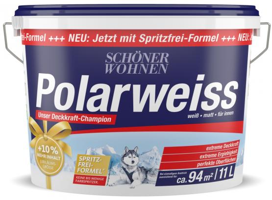 Schöner Wohnen Innenfarbe Polarweiss 11 L Aktion Konservierungsmittel frei Spritzfrei