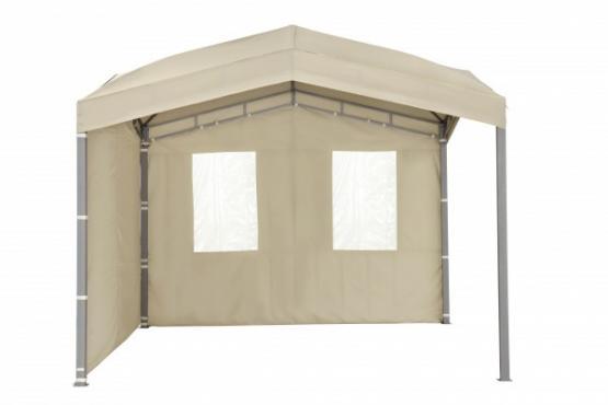 Tepro Gartenpavillon Seitenteil für Marabo taupe 309 x 0,5 x 210 cm