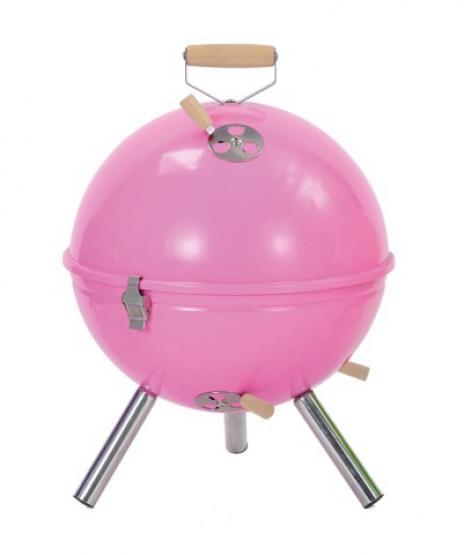 Tepro Holzkohlegrill Mini Kugelgrill Crystal pink