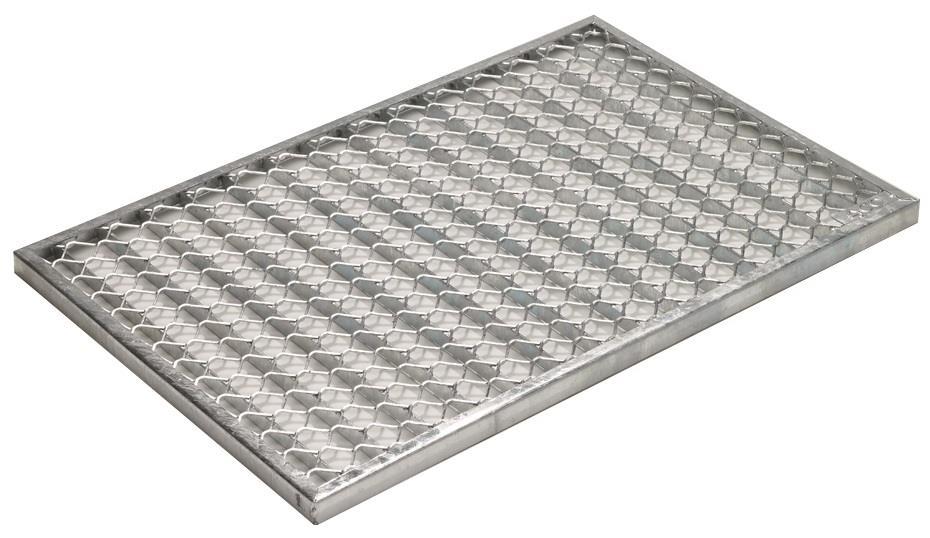 ACO Self/® Maschenrost 30//10 mm Stahl verzinkt 50 cm L/änge