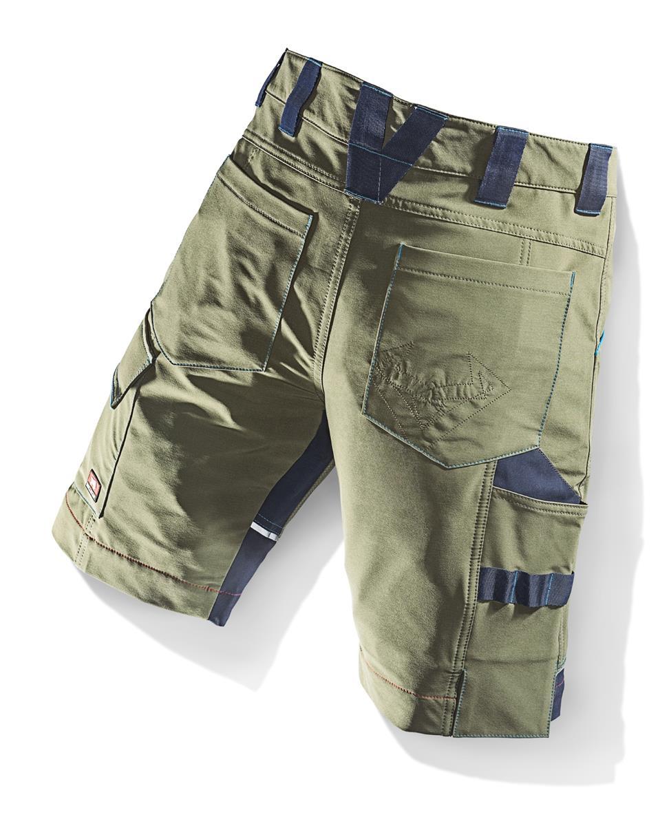 62 Bullstar Stretch-Short Kurze Arbeitshose Arbeitskleidung flexit oliv Gr