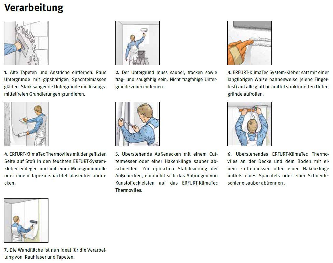 Erfurt KlimaTec Thermovlies Premium 10 x 0,75 m//Rolle Tapete Wärmedämmung 7,5m²