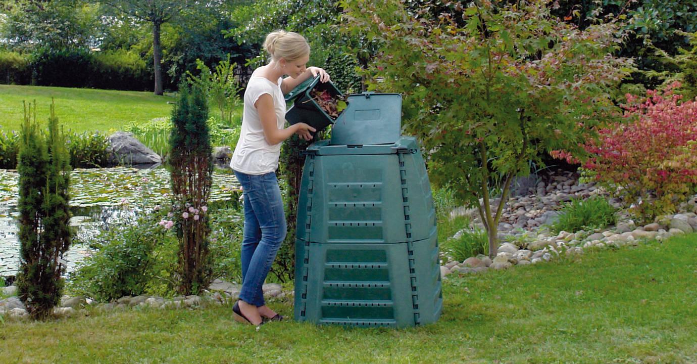 Thermo-Star Komposter 600 Liter grün GARANTIA 600021 Komposter