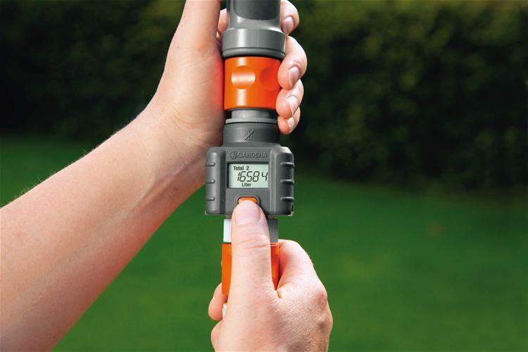 Gardena Wasserzähler Großes Display Eine Taste Funktionen Batteriestandsanzeig