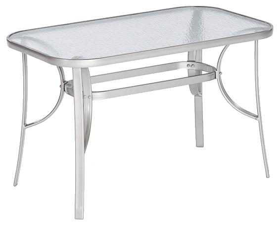 Merxx Gartentisch Tisch Eckig 120 X 70 Cm Silber Aluminiumsicherheitsglas