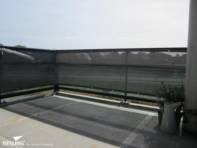 Nesling Balkontuch Balkonbespannung Sichtschutz 0 8 X 5 M Grau