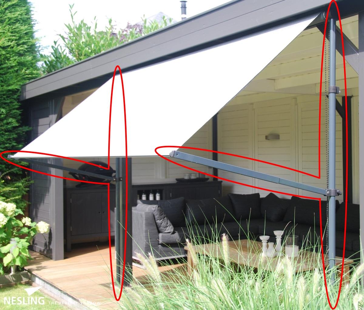 nesling flexrahmen f r balkon sonnenschirm markise coolfit. Black Bedroom Furniture Sets. Home Design Ideas