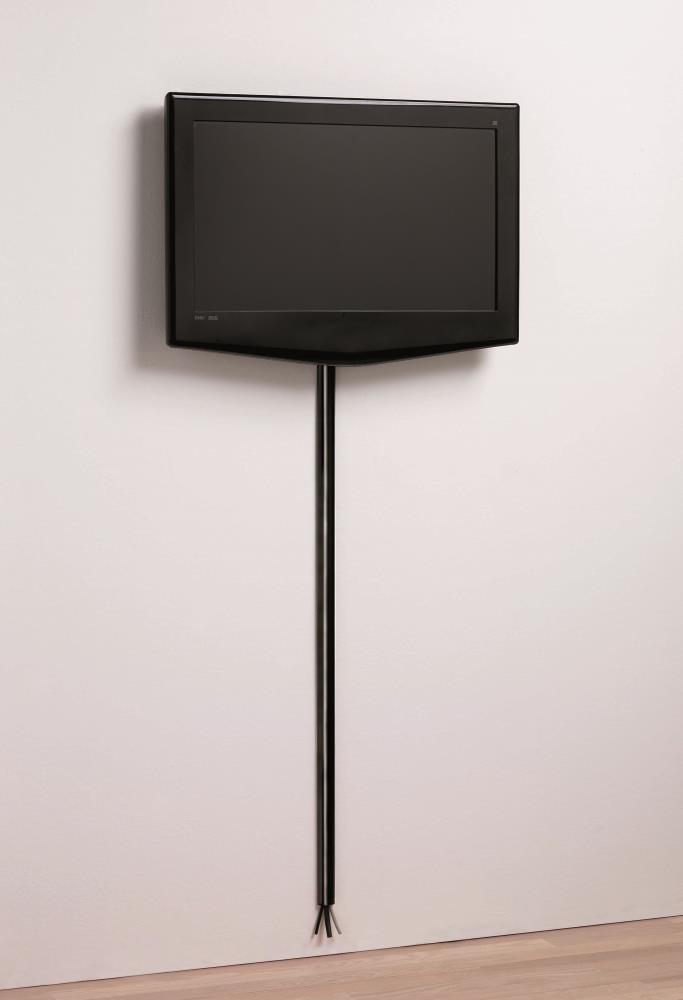 125cm it Design Kabelleiste Kabelkanal schwarz glänzend 20x35mm Primo Cover