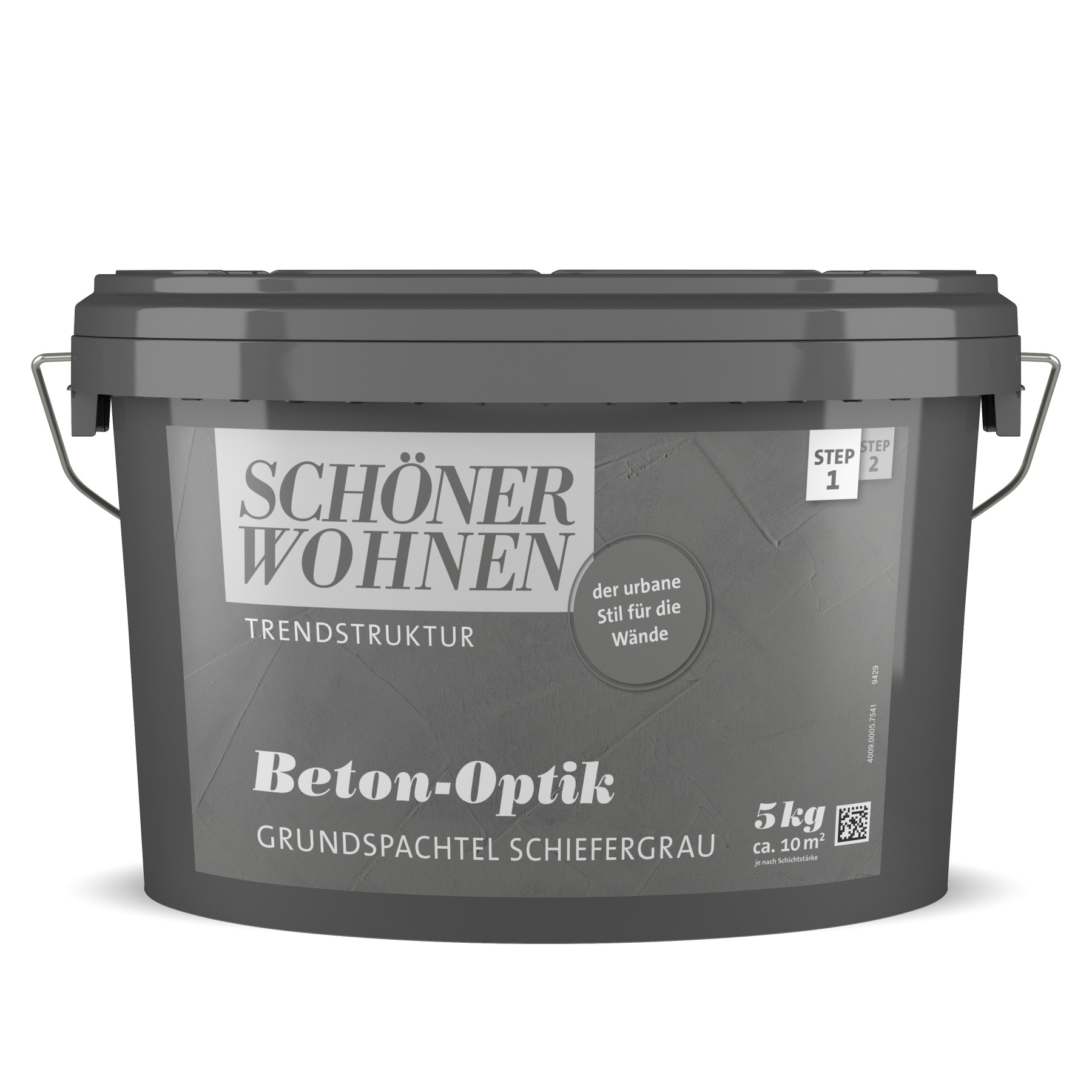 Schöner Wohnen Beton-Optik Grundspachtel Schiefergrau 5 L