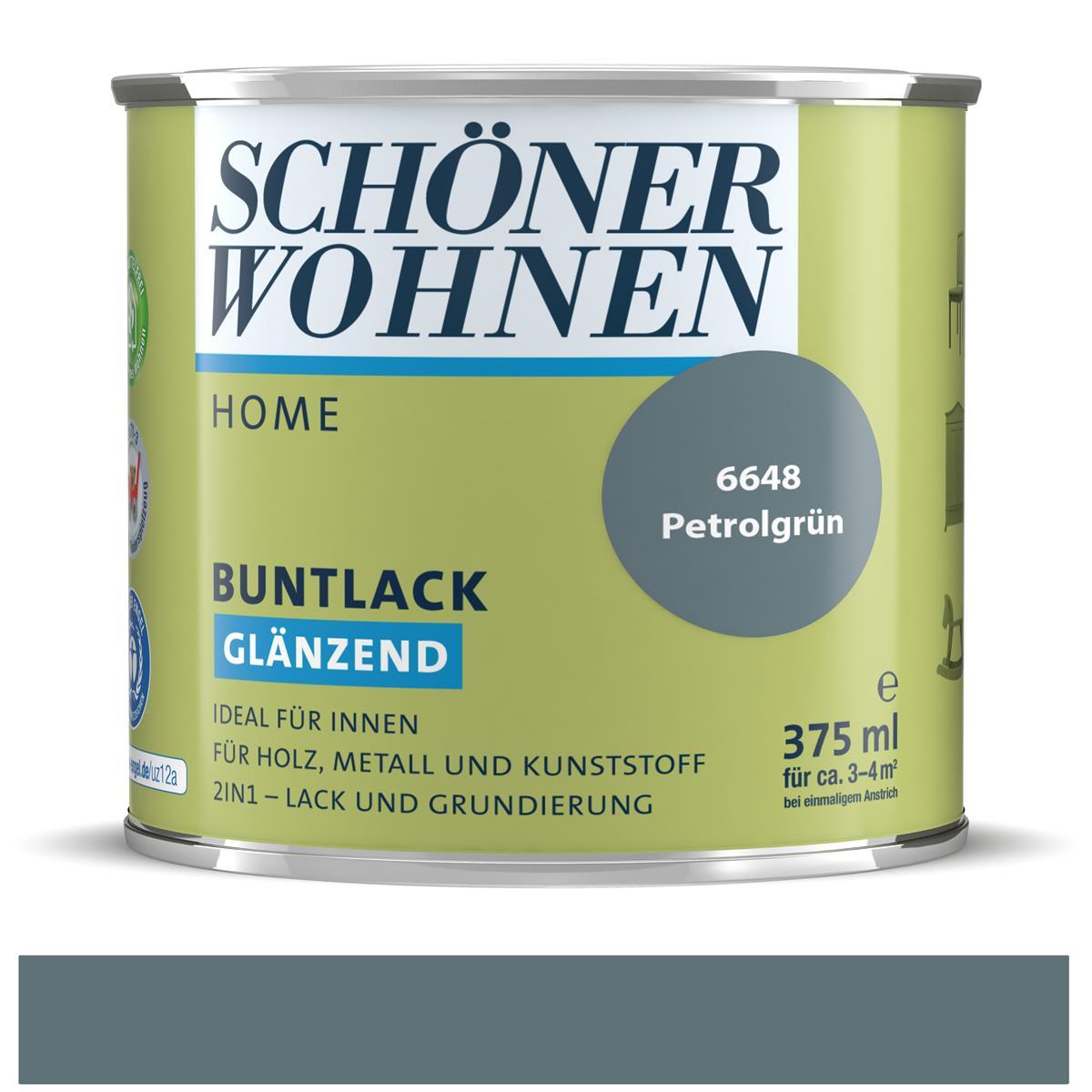 Schoner Wohnen Home Buntlack Petrolgrun Glanzend 375 Ml