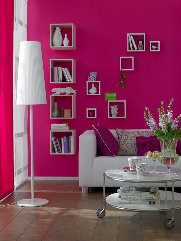 Schöner Wohnen Trendfarbe Wandfarbe Deckenfarbe orchidee matt 1 L