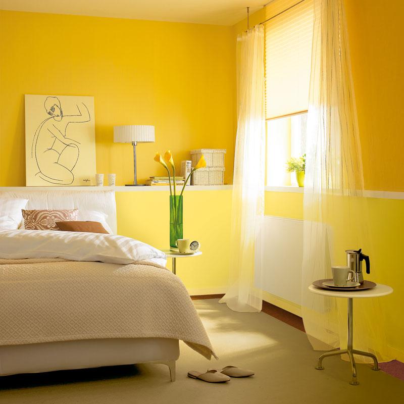 Schöner Wohnen Trendfarbe Wandfarbe Deckenfarbe honey seidenglänzend 2,5 L