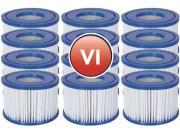 12x Bestway Filterkartusche Gr.VI Ø 10,6cm H 8cm für Lay-Z-Spa Whirlpool