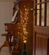 3er LED Dekozweige braun mit 80 Leuchten 120cm Lichterkette Außenbereich