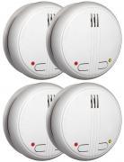 4x Smartwares Funk-Rauchmelder FA22RF 85dB Alarm schnurlos verknüpfbar inkl. 9 V Batterien