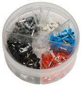 Aderendhülsen mit Kunststoffkragen Streudose 0,5 - 2,5 mm²