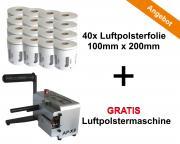 Aircopack Starterkit Gratis Maschine AP-X3 Luftpolstermaschine all-in-one Lösung 40x Luftpolsterkissen 150mm x 200mm x 700m **
